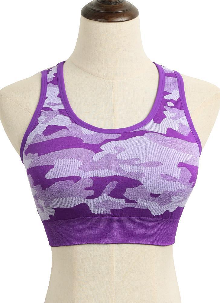Fashion Camouflage Seamless Fitness rembourré soutien-gorge pour femme