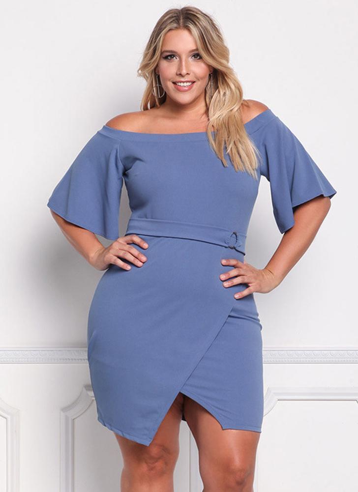 Vestito da più di estate delle donne casuali di asimmetrico della spalla di  estate e1b7518ad3c