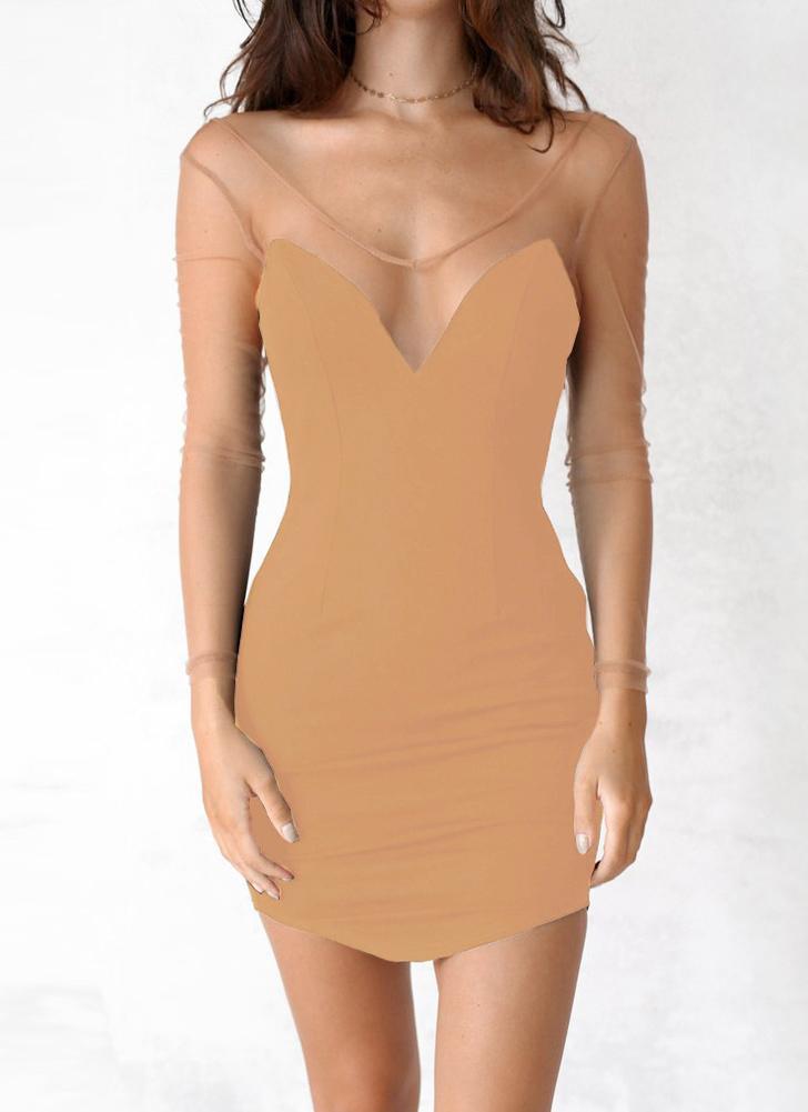 Vestito da bodycon delle donne backless del collo profondo del collo di V- Neck sexy 063ead71c85