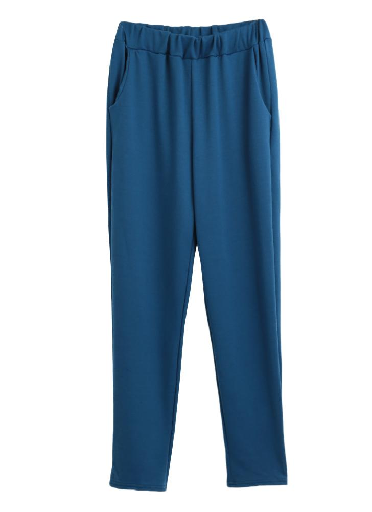 Women Athletic Sport Trousers Yoga Slant Pockets Outdoor Running Casual Sportswear Pants Leggings