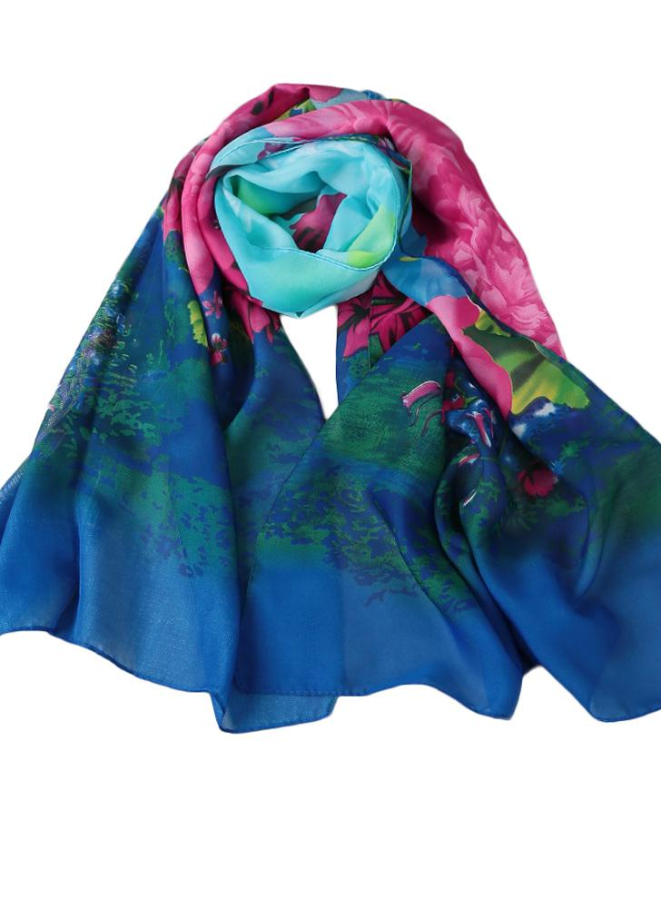 Nuovo Moda Floreale Multi Colore Stampa Maxi l/'hijab sciarpa-Molti Colore!