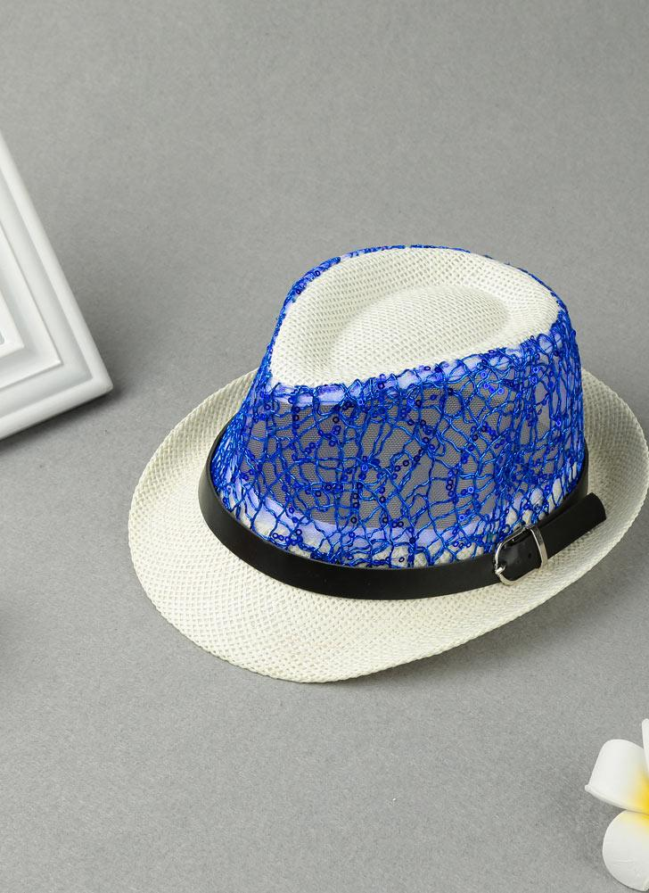 Cappello di paglia riccio del cinturino della cinghia di maglia dei sequins di  modo a8f9f159bad5
