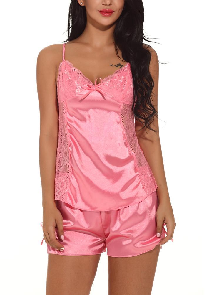 56b8c311db7f Abiti da notte in raso di seta per donna. Completi pigiama da notte in  pigiama