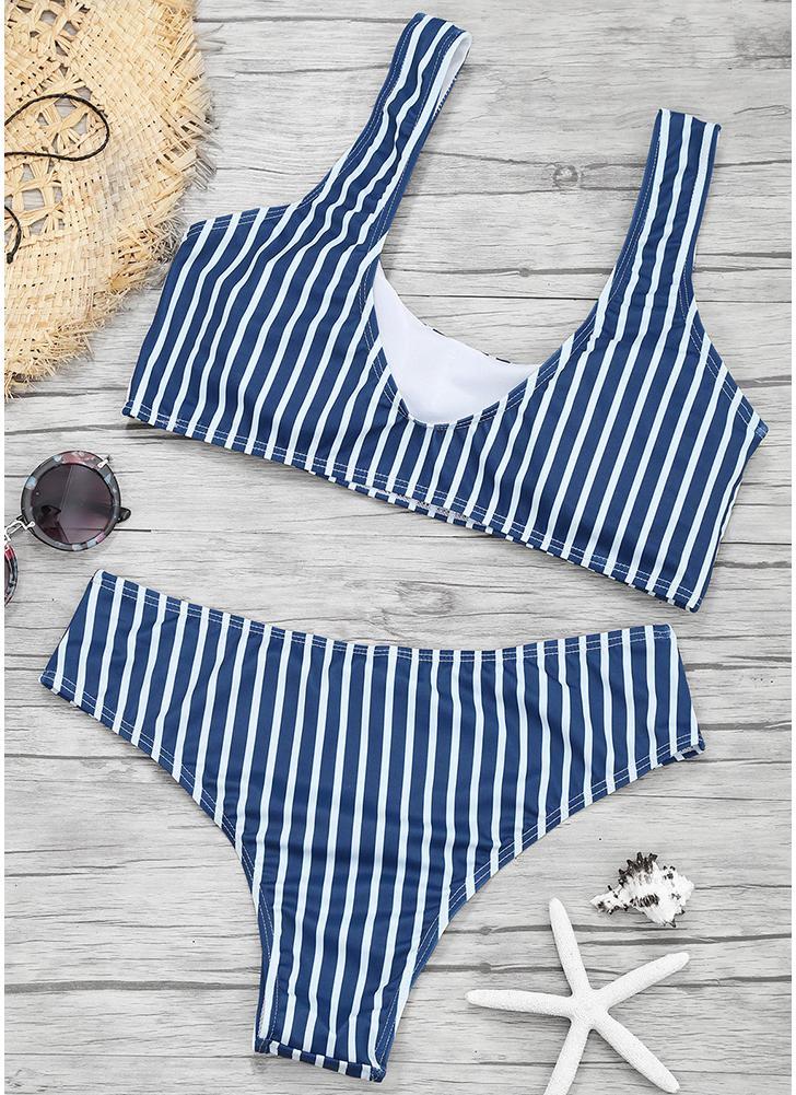 Women Color Block Bikini Set  Push Up Padded Swimsuit Swimwear Bathing Suit