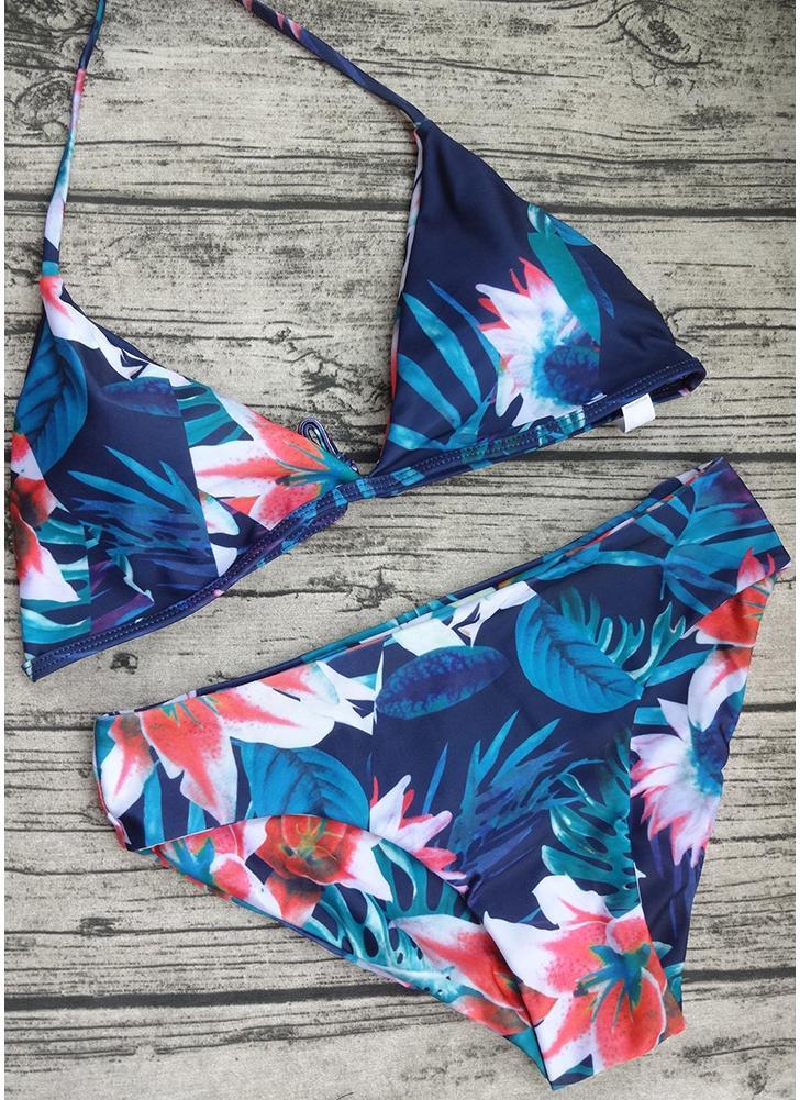 Mulheres Jungle Print Bikini Set Verão Praia Maiô Two Piece Swimsuit