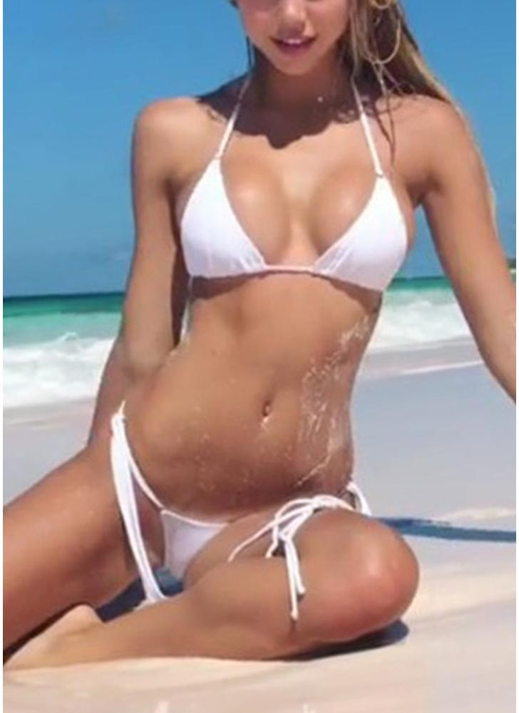 Costume da bagno sexy da donna Costume da bagno intero in spiaggia con cinturino intero
