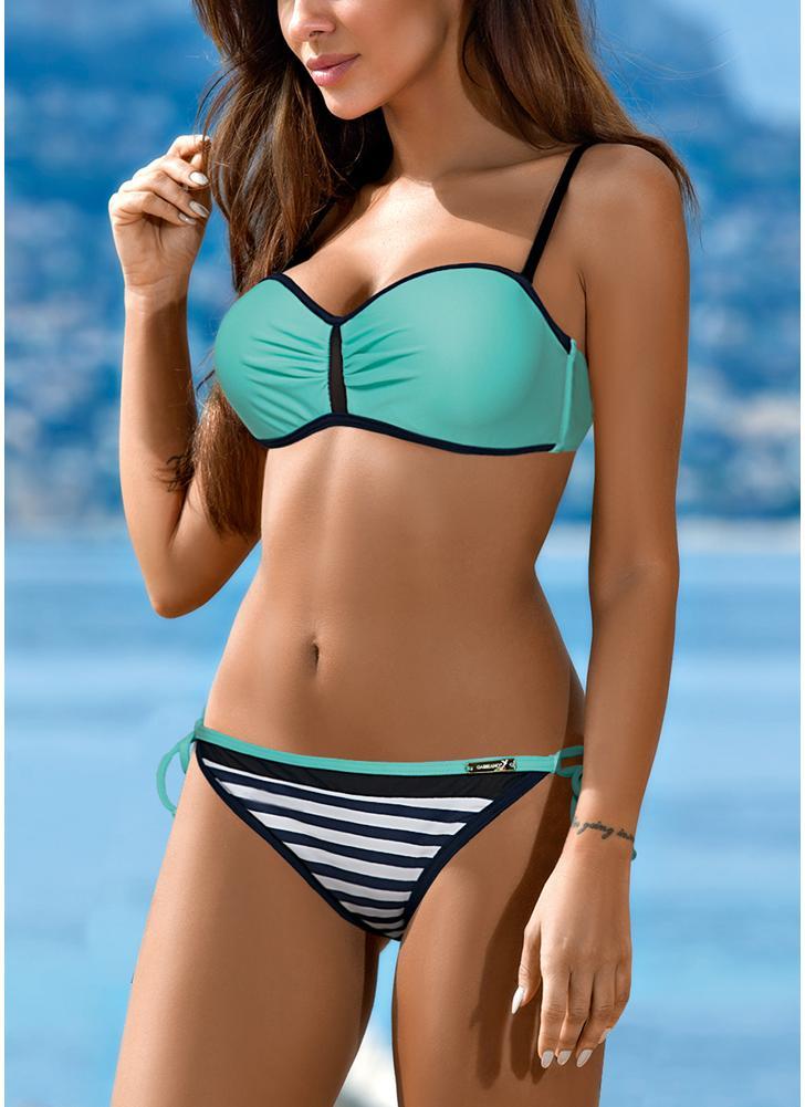 13506a234609 Bikini Set Color de contraste Bañadores