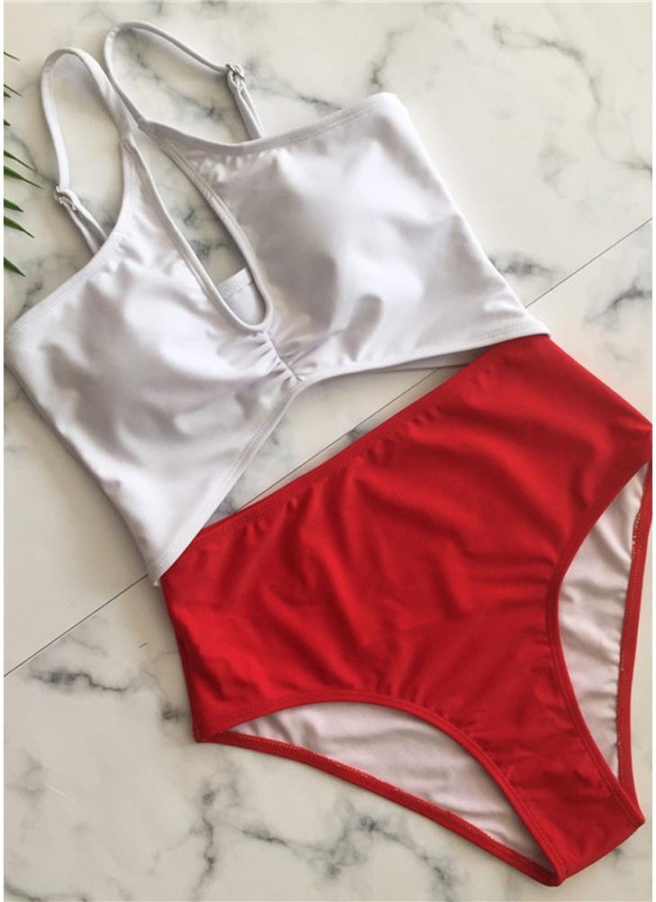Spaghetti Strap Padded Women Bikini Set