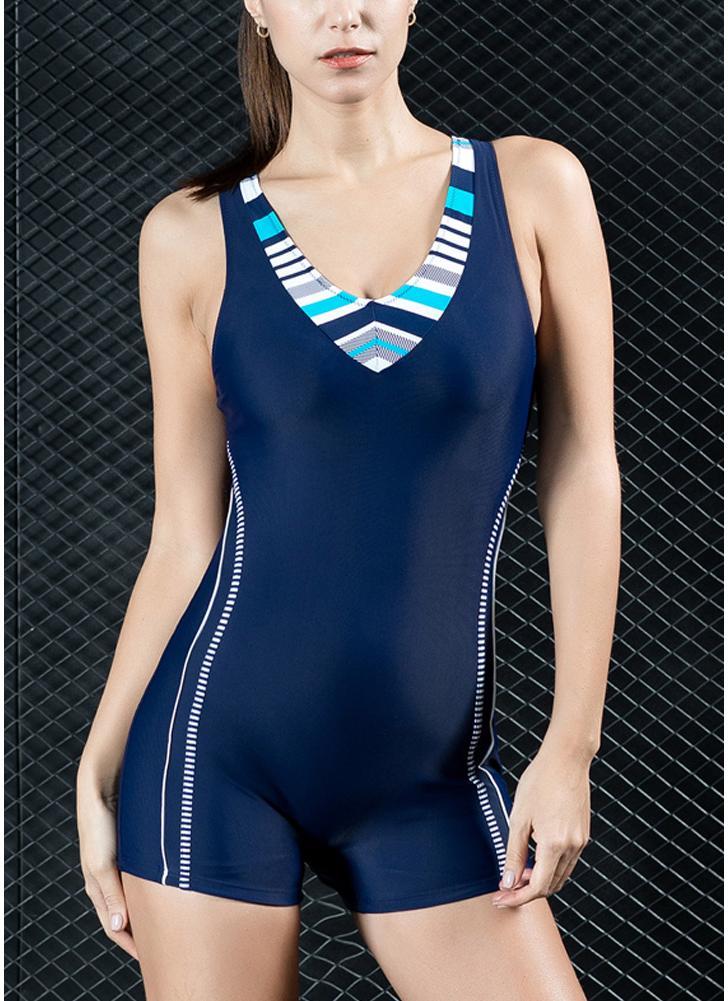 Costume intero da donna Sport Costume da bagno professionale Costume da bagno monokini Costume da bagno