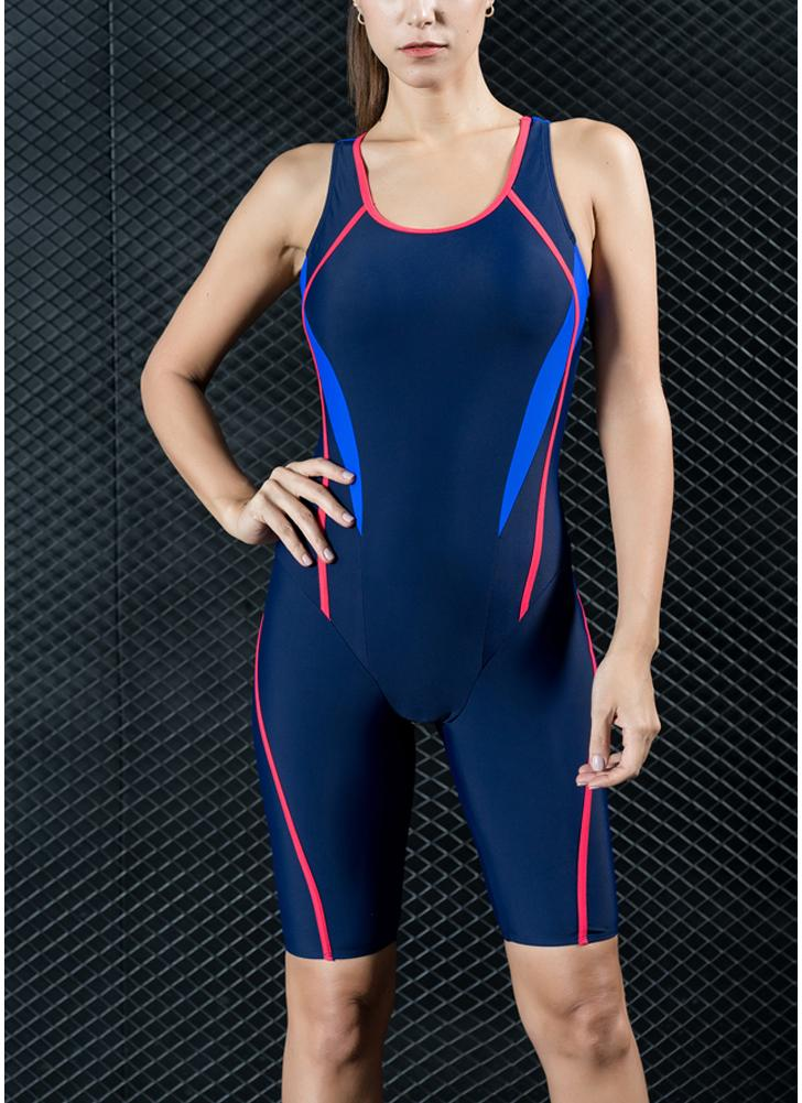 Traje de baño de una pieza de traje de baño de los deportes profesionales de las mujeres Traje de baño de la competencia de la competencia de competición de las mujeres