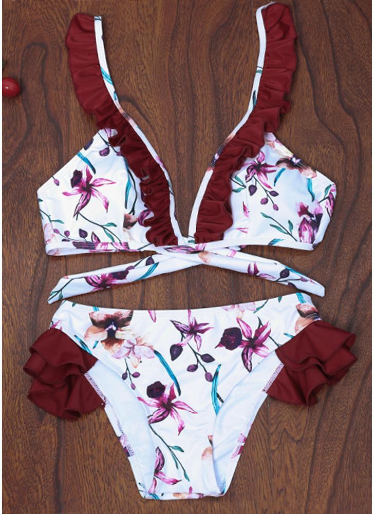 Costume da bagno donna Bikini imbottito push-up imbottito in costume da bagno