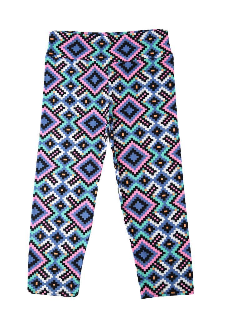 Новая мода женщин Капри леггинсы высокой талией цветочные печати обрезаются Йога брюки фитнес тренировки брюки