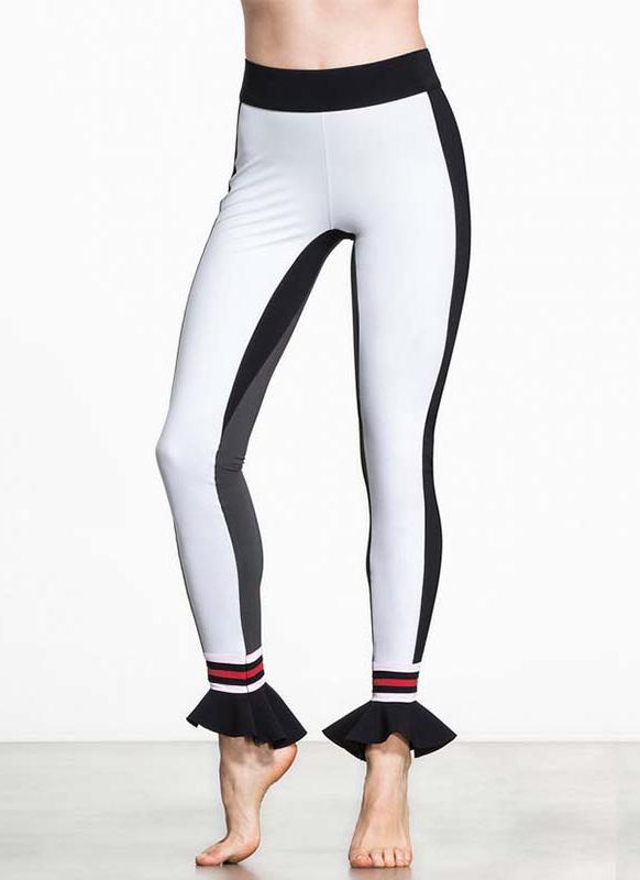 Frauen-Sport-Yoga-Aufflackern-Hem Leggings