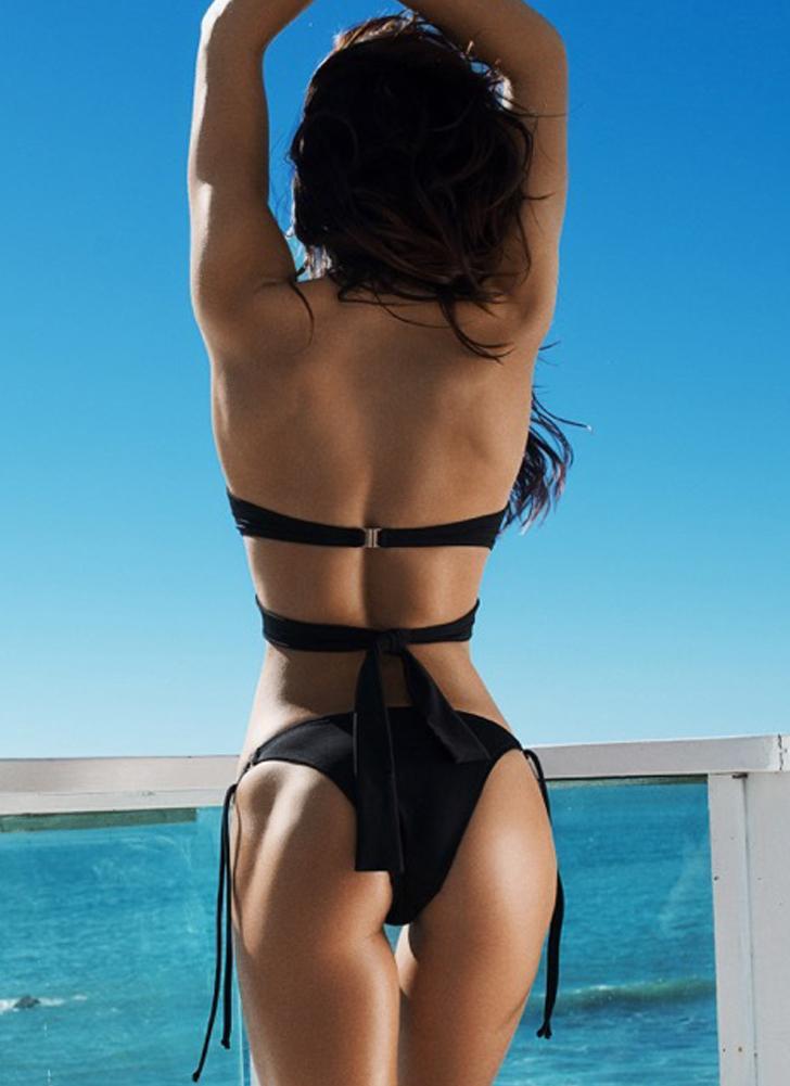 Costumi da bagno donna sexy a vita alta con croce e bikini