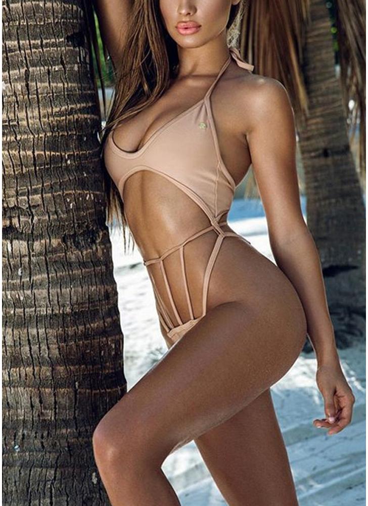 Sexy Frauen Halter Draht frei gepolsterte Cup Low Waist aushöhlen Thong Bikini Set
