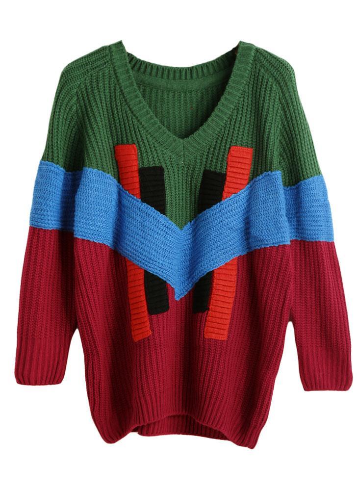 grün einheitsgröße Neue Art und Weise Frauen gestrickten Pullover ...