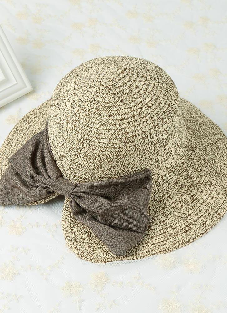 Nouveau Mode Femmes Chapeau de paille Bowknot Grand Brim Pliable vintage douce plage Cap Summer Sun Rolled