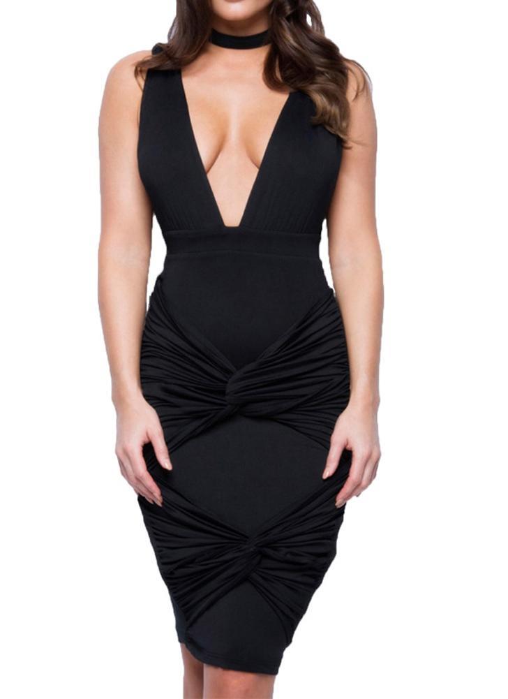 New Sexy Mulheres Vestido Profundo V-Neck Choker torção Bandage V Discoteca Festa Voltar Mini vestido roxo / Preto