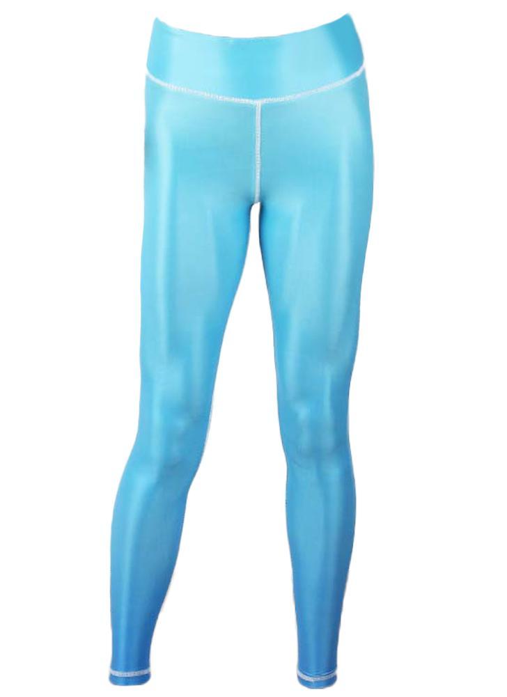 Moda Mulheres Gradient Color Sports High Waist Yoga Leggings