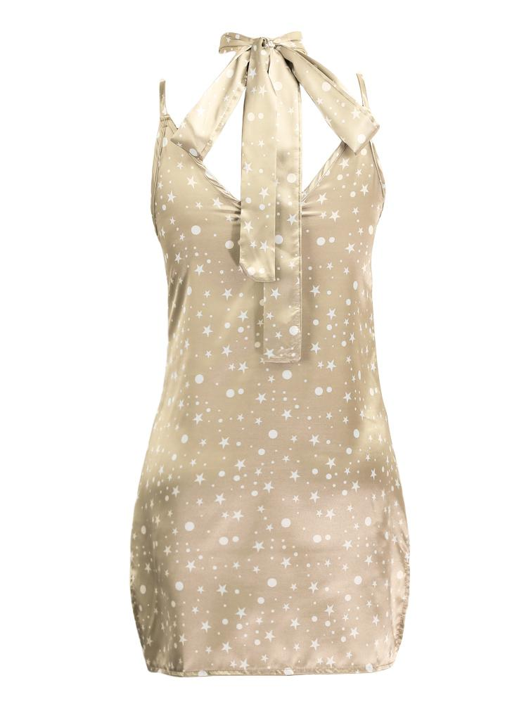 New Sexy Women Slip V-Neck Choker Spaghetti Strap Silk Satin Party Dress