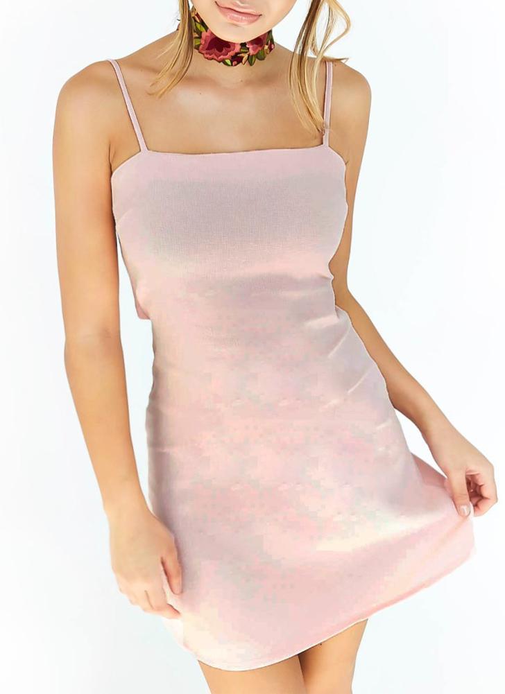 Sexy Slim Strappy sem mangas ajustável Strap vestido casual das mulheres
