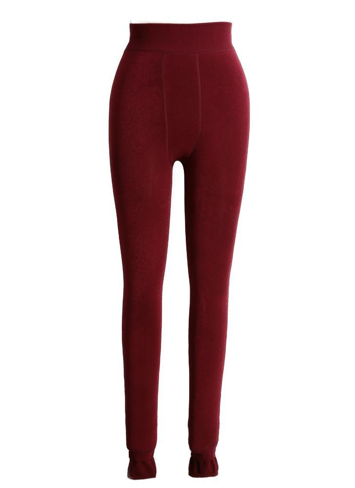 New Sexy Mulheres Winter Leggings espessa quentes calças justas alta Elastic magro BODYCON Calças Jeggings