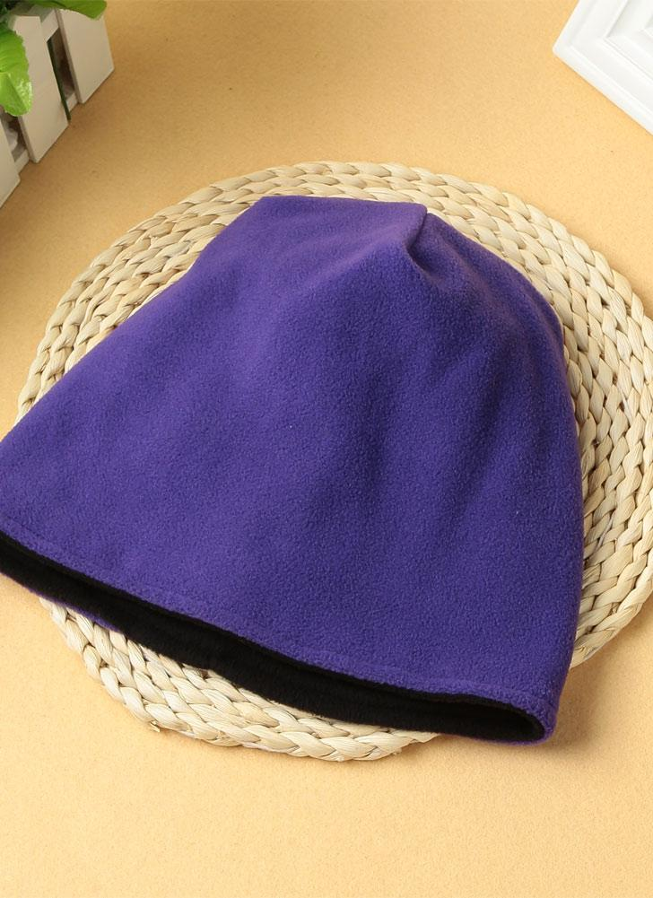 Novedades Mujer Hombre Unisex Fleece gorra de color sólido Beanie caliente Escutelaria Headwear