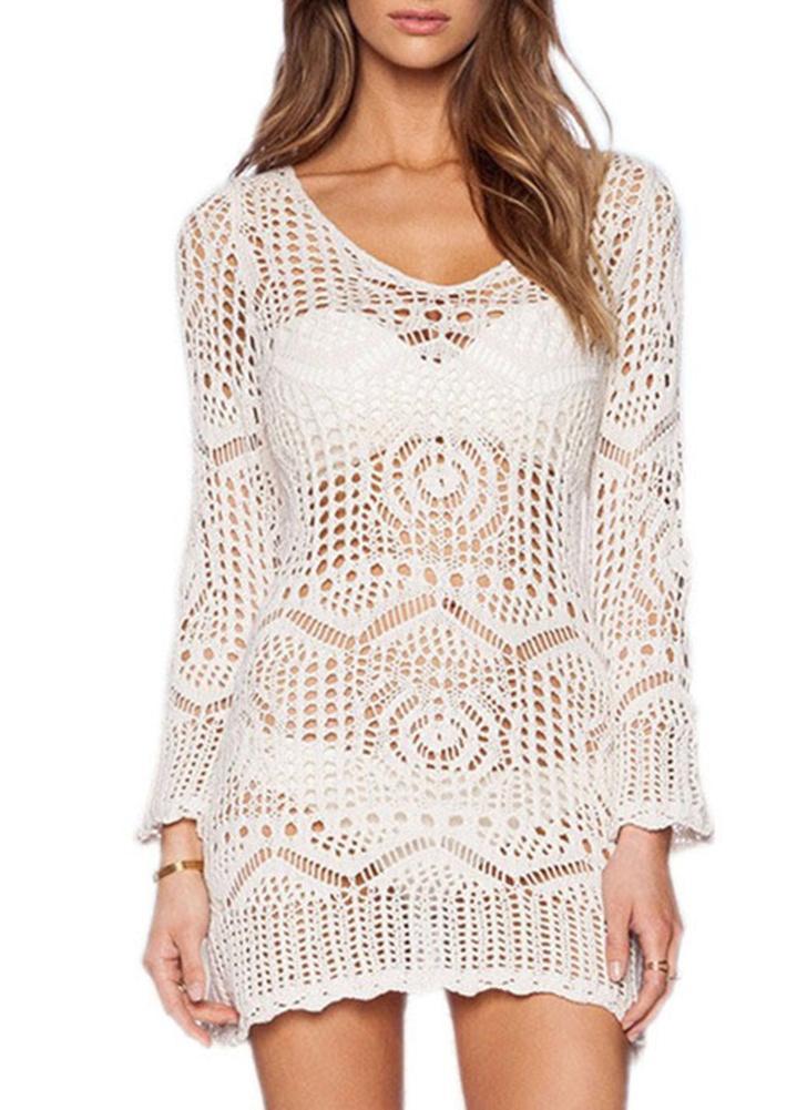 Vestido crochet mujer playa