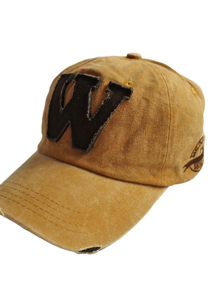 Nuovo Donne Uomini ricamo Lettera W Berretto da baseball Wash Distressed  Snapback di sport esterni di 18e3506065fd