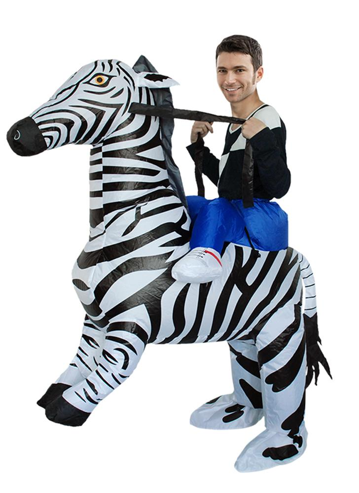 Lovely adult inflatable rider costume cute zebra cosplay for Gonfiabili halloween