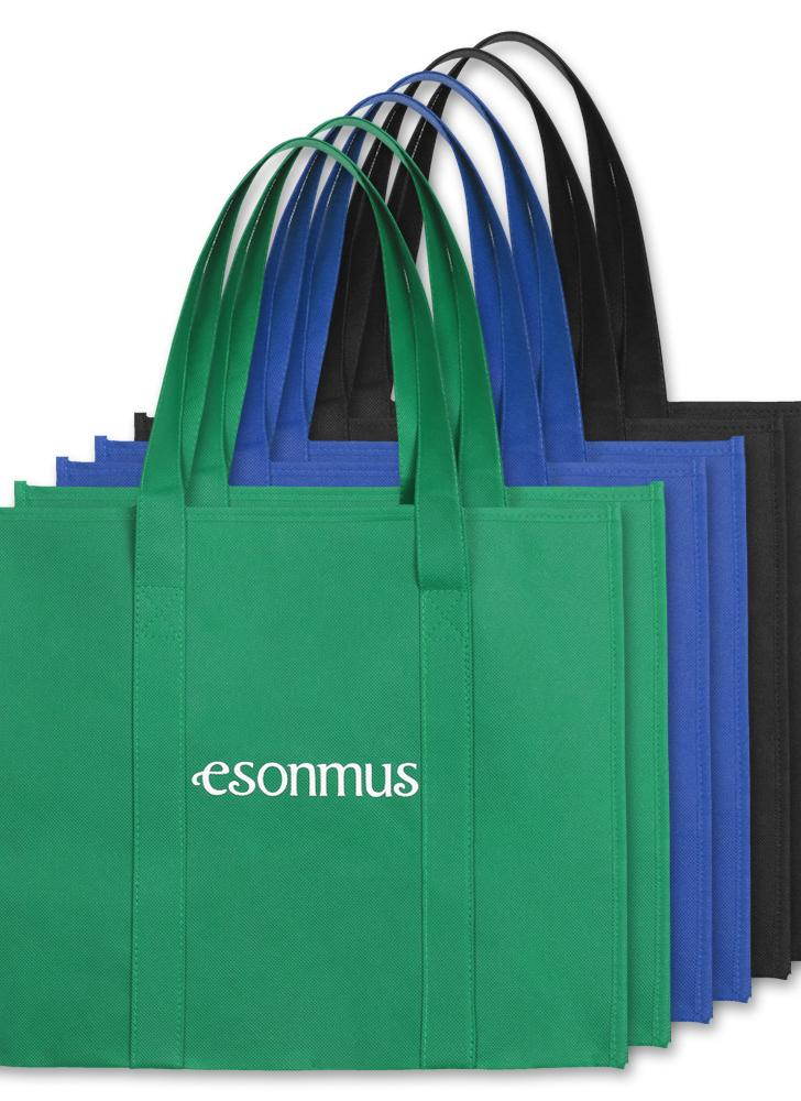 Esonmus 6pcs/set Multipurpose Reusable Non Woven Large Grocery Tote Bags  Foldable Shopping Bags
