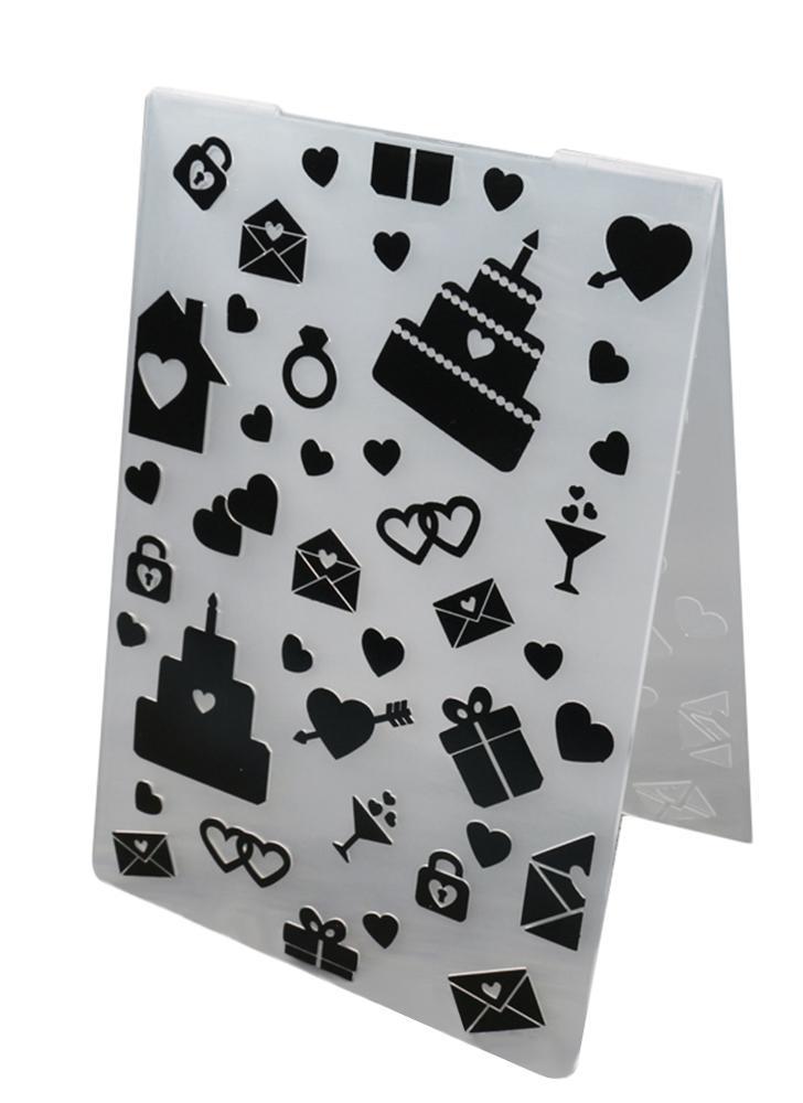 Plastic DIY Cutting Dies Plastic Decorative Embossing Folder Cake Biscuit Baking Mold