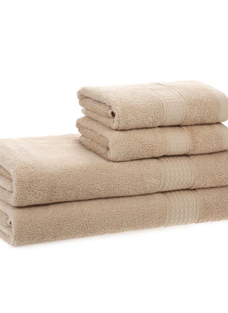 2pcs Bath Towels + 2pcs Hand Towels Set Cotton Soft Fast Absorbant Bath  Towel Cloth For