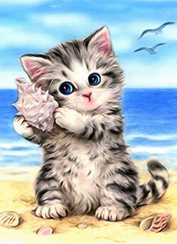 #1 NAIYUE DIY 5D Diamond Painting Kit Cat Pattern