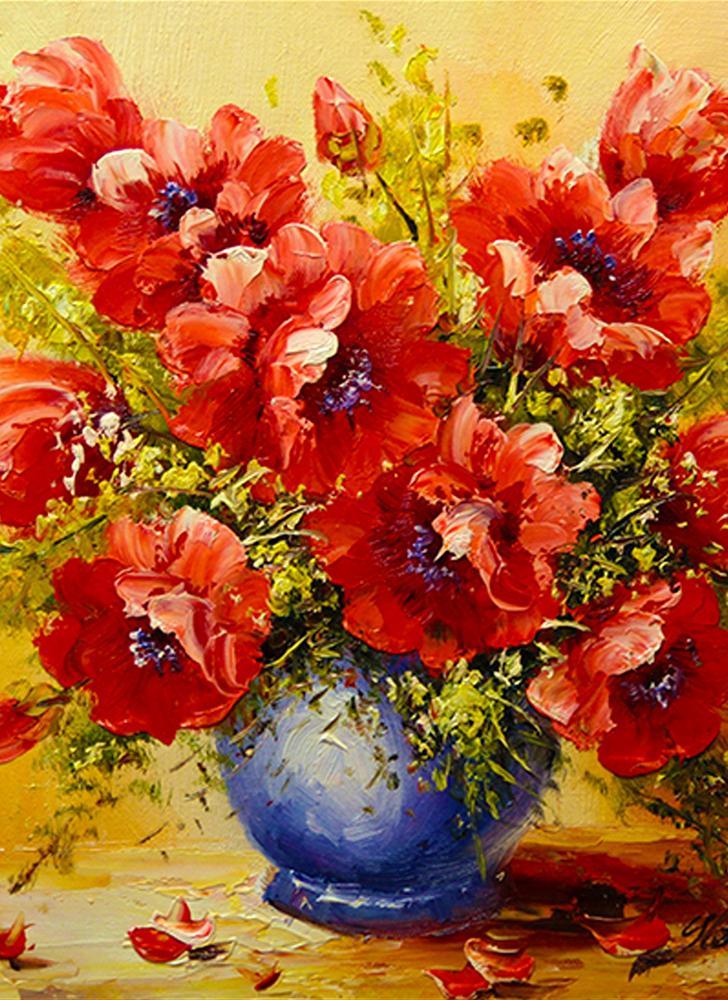 NAIYUE 12 * 12 zoll / 30 * 30 cm DIY 5D Diamant Malerei Kit Malerei Blumen Muster Strass Mosaik Stickerei Kreuzstich Handwerk Hause Wand-dekor