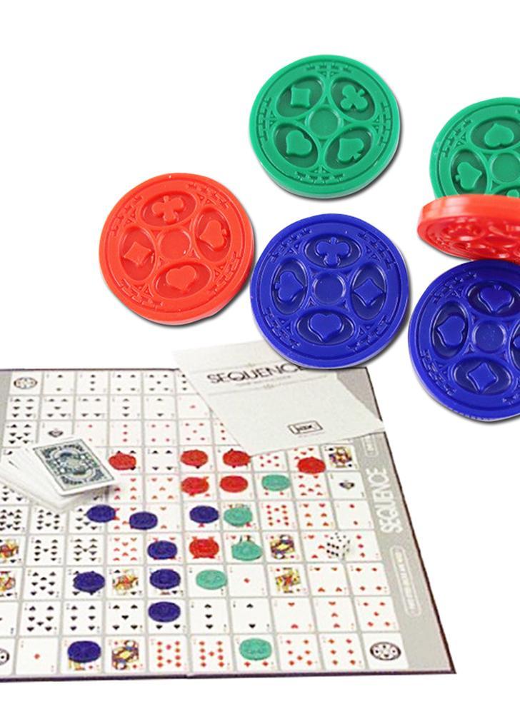 Party Games Sequence Playing Cards Game Um jogo emocionante de estratégia Amigos tocando juntos