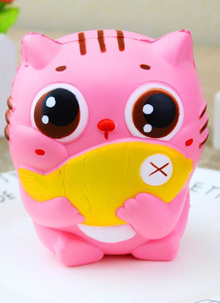 Exquisite Fun Soft Cat Desenhos animados Squishy Slow Rising Squeeze Toy  Phone Straps Ballchains Simulação Kawaii 00b833d18e