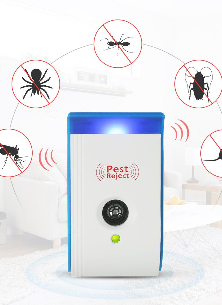 Ultrasonic Pest Repeller with Night Light Non-toxic Repellent