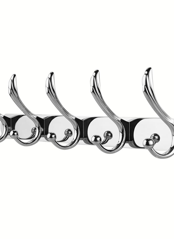 Wall Mounted Hook Rack Coat Hanger Multifunctional Hanging Hook Stainless Steel Hooks Space-saving Coat and Hat Hook