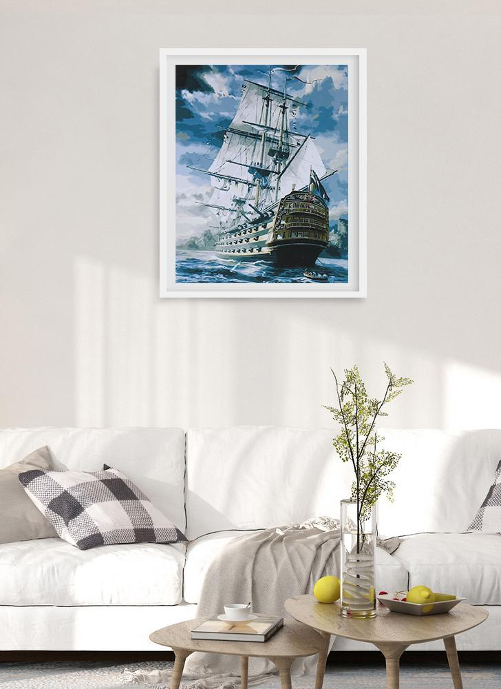 Pittura a olio digitale senza cornice fai da te 16 * 20 '' a vela dipinta a mano in cotone dipinto su tela per numero Kit Home Office Wall Art Dipinti Decor