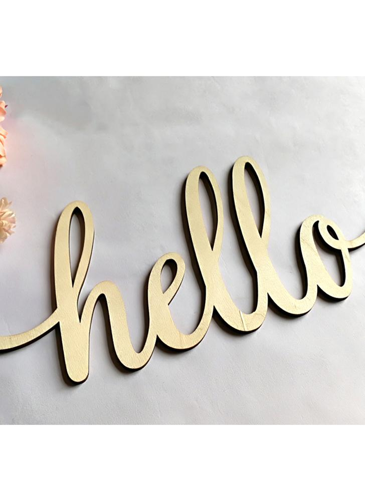 Home Decor Wall Wood Sign Wooden Letters Alphabet Word Decoration for Wedding Party Birthday Style 1 Hello Letter