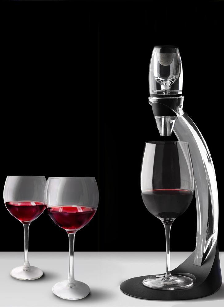 Professional Wine Decanter Set Mini Essential Red Wine Quick Aerator with Filter Stand Holder