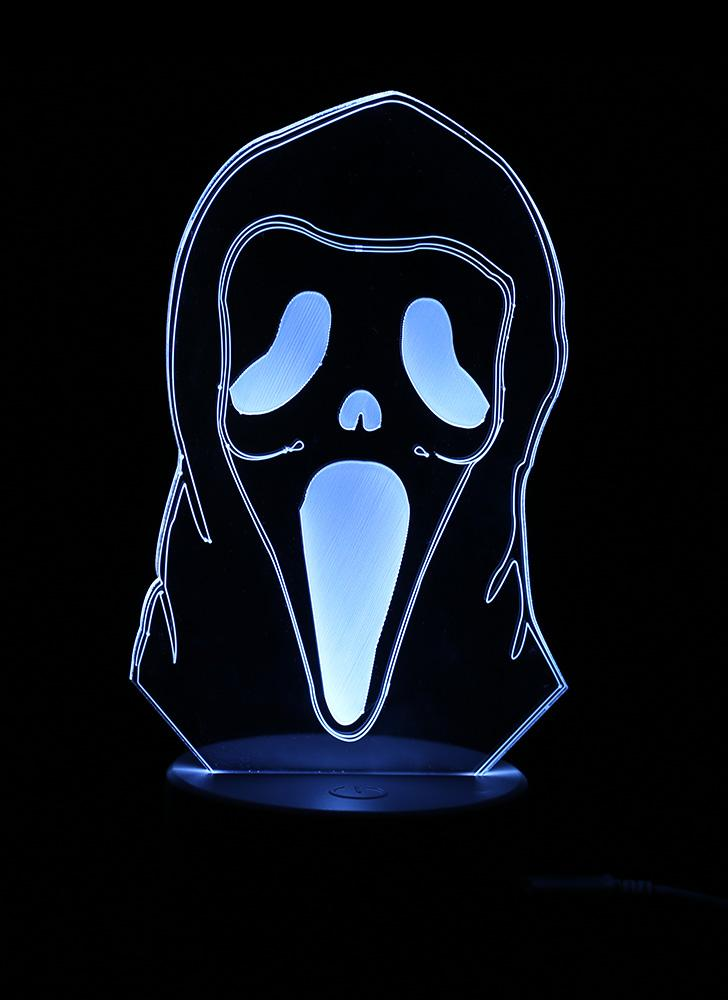 3D Optical Illusion Colorful LED Table Lamp USB Powered Touch Button Halloween Night Light Home Decoration--Pumpkin