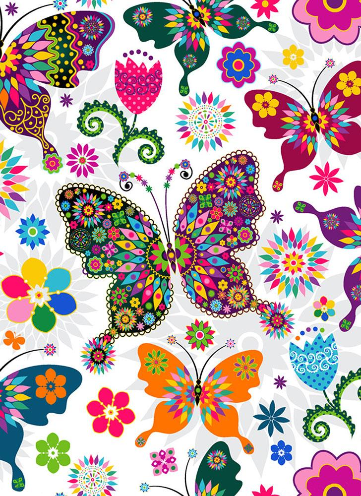 5D Colorful Butterflies Image Diamond Painting DIY Pasted Cross Stitch Full Round Diamond Home Decoration Gift