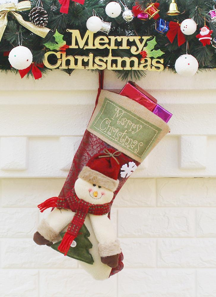 Конфеты сумка Веселого Рождества висит Decoartions чулки подарок