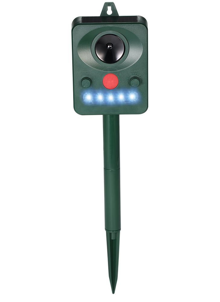 Repouso repelente de repelente de repelente de repelente para repelente de animais ultra-sônicos por propulsão solar para répugnar Guaxinins Gatos Cães Pássaros com LED intermitente Freqüência ajustável