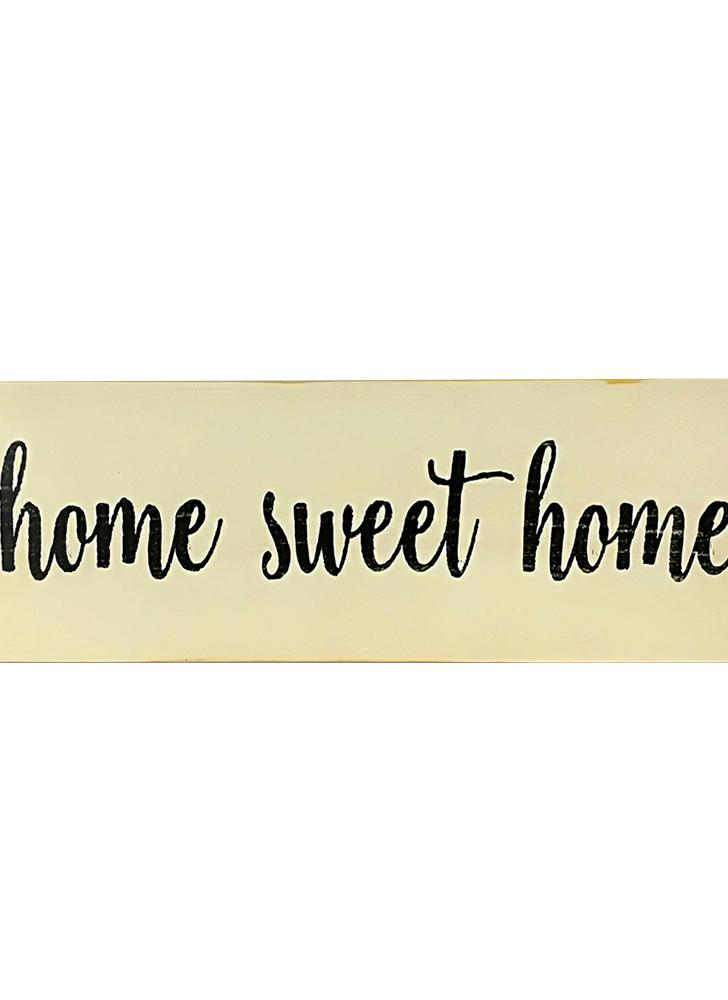 Home Sweet Home Script Design Large Rustic Wood Sign Distressed Solid Plaque Style 2