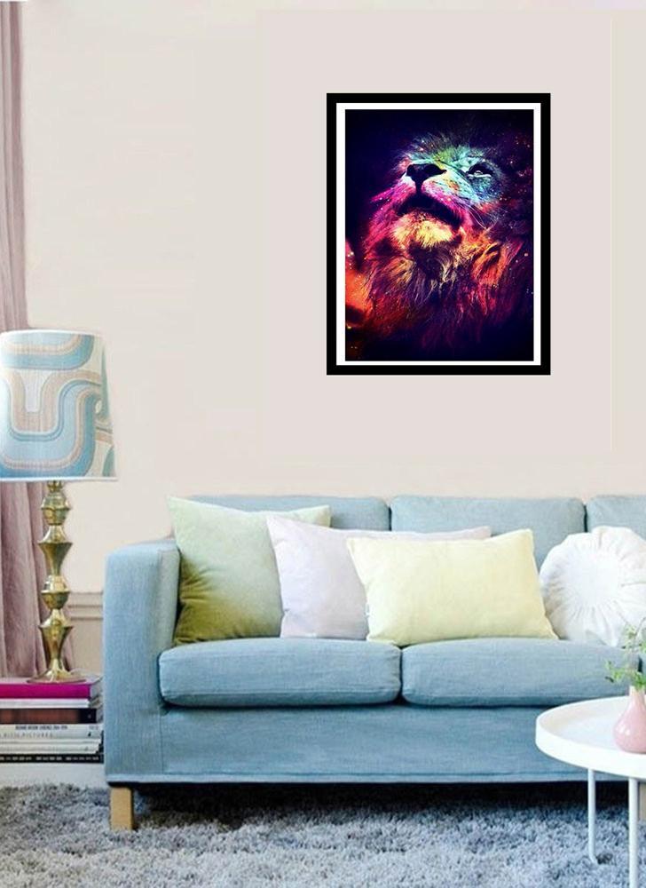 5D fai da te colorato kit pittura diamante del leone arti e mestieri ricamo punto croce strass decorazione della parete della tela home office decor