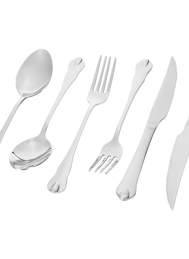 6pcs High-end Western Tableware 2 Set Stainless Steel Flatware Good Quality Fork Knife Spoon Utensils