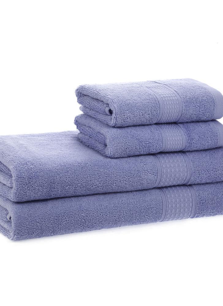 Tovaglioli di bagno 2pcs + tovagliette di mano 2pcs hanno fissato il tovagliolo di bagno asciutto veloce morbido del cotone per il bagno della casa